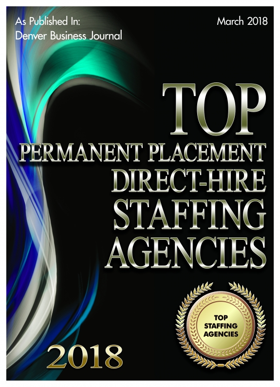 Denver Business Journal Top Permanent Placement Direct-Hire Staffing Agencies 2018 Plaque