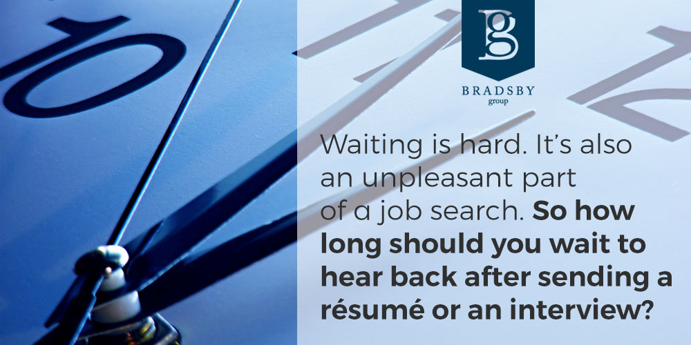 Waiting is hard. It's also an unpleasant part of a job search. how long should you wait to hear from a recruiter