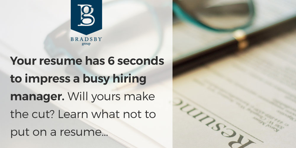 Your resume has 6 seconds to impress a busy hiring manager. Will yours make the cut? Learn what not to put on a resume...