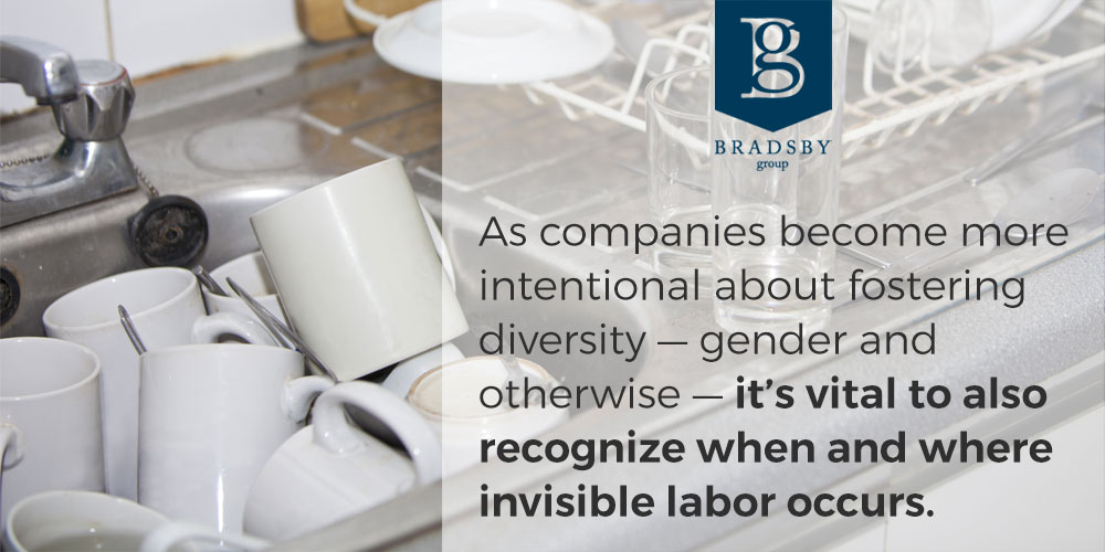 As companies become more intentional about fostering diversity — gender and otherwise — it's vital to also recognize when and where invisible labor occurs.