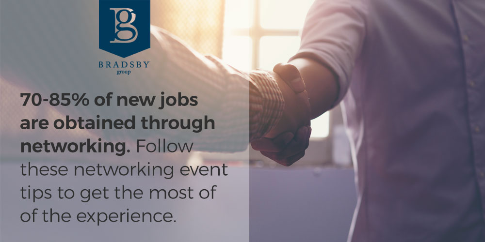 70-85% of new jobs are obtained through networking. Follow these networking event tips to make the most of the experience.