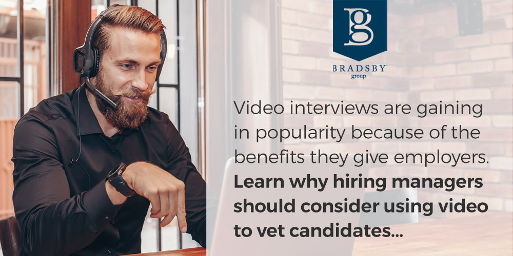 Video interviews are gaining in popularity because of the benefits they give employers. Learn why hiring managers should consider using video to vet candidates...