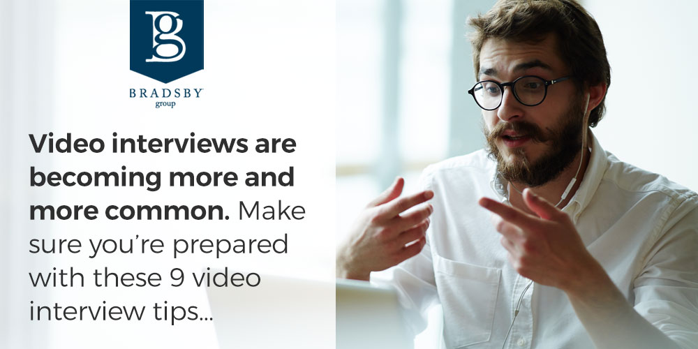 Video interviews are becoming more and more common. Make sure you're prepared with these 9 video interview tips...