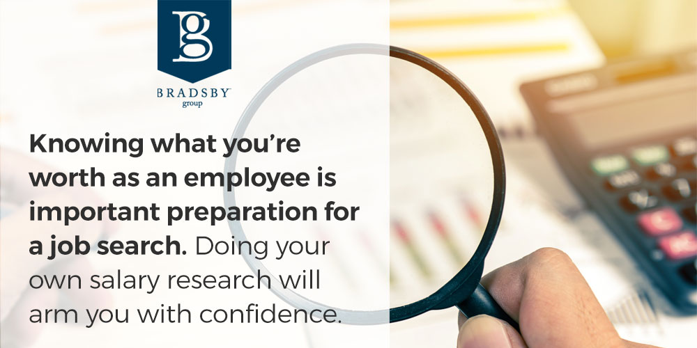 Knowing what you're worth as an employee is important preparation for a job search. Doing your own salary research will arm you with confidence.