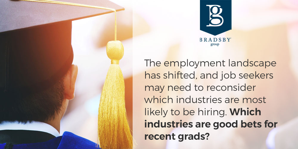 The employment landscape has shifted, and job seekers may need to reconsider which industries are most likely to be hiring. Which industries are good bets for recent grads? - best jobs for college grads
